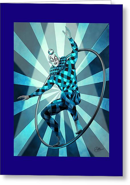 Jester Blue  Greeting Card by Quim Abella