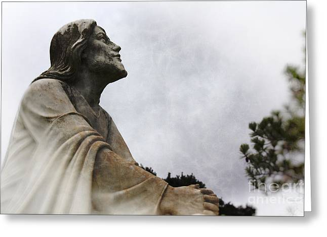 Jesus And Gethsemane Greeting Card by Ella Kaye Dickey