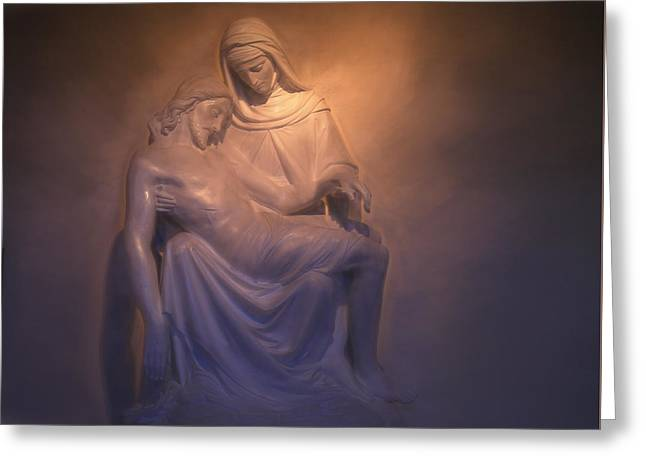 Jesus And Mary Greeting Card by Donna Kennedy