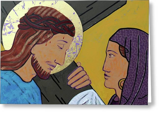 Jesus And Veronica Greeting Card