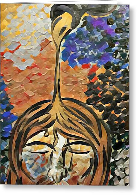 Jesus Anointed Greeting Card by Nicky Williams