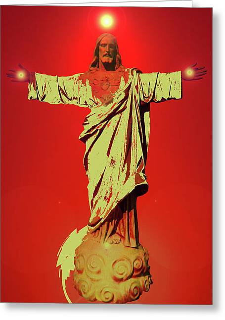 Jesus Bless No. 01 Greeting Card