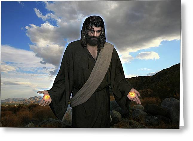 Jesus Christ- And He Withdrew Himself Into The Wilderness And Prayed Greeting Card