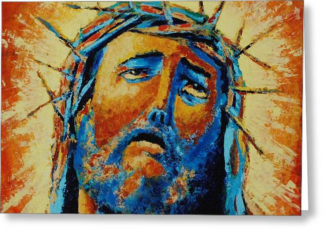 Jesus Christ Greeting Card by Andrew Wilkie