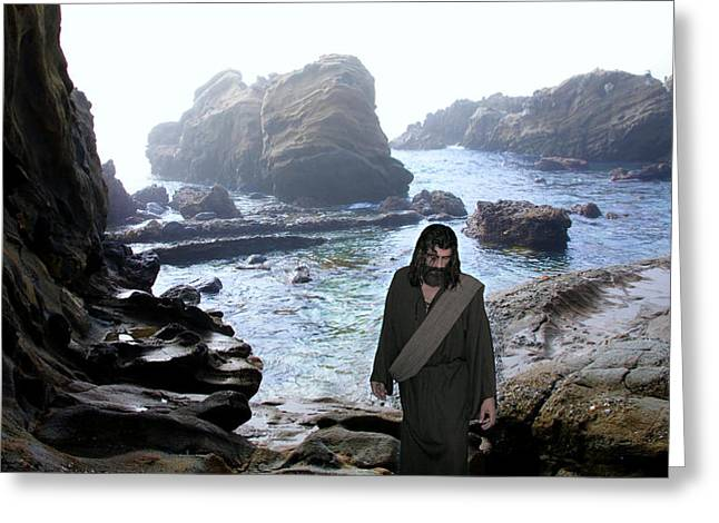 Jesus Christ- Be Not Dismayed For I Am Your God Greeting Card