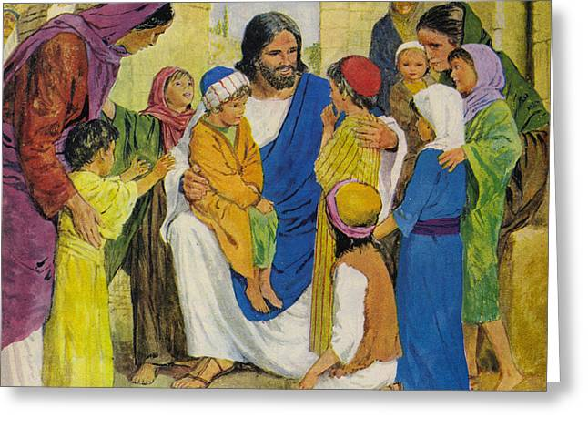 Jesus Christ Greeting Card by Clive Uptton