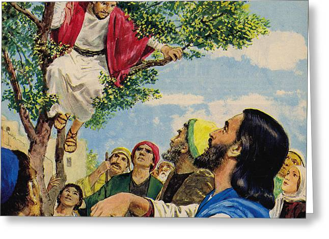 Jesus Christ Forgives A Thief Greeting Card by Clive Uptton