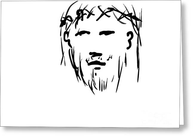 Jesus Christ Head Greeting Card
