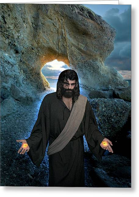 Jesus Christ- I Am With You Always Greeting Card