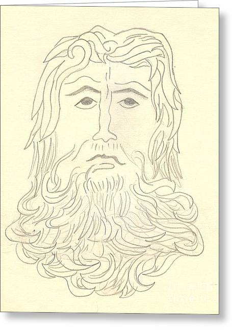 Jesus Christ Super Star Greeting Card by Deborah A Andreas