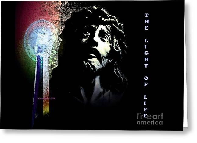Jesus Christ The Light Of Life Greeting Card