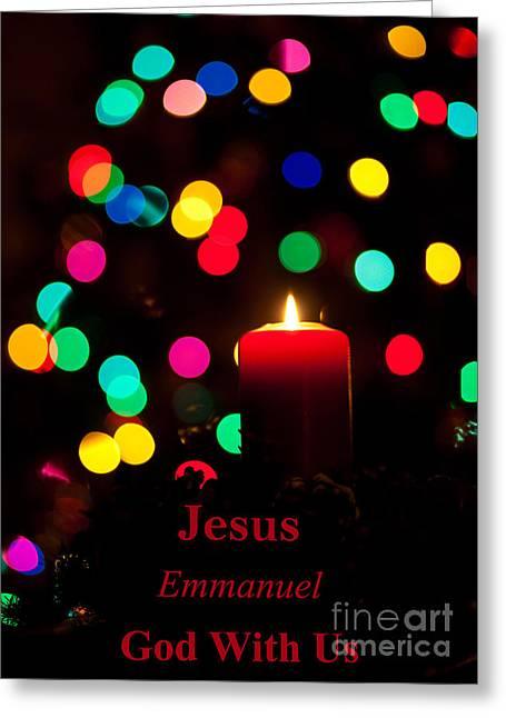 Jesus Emmanuel God With Us Greeting Card