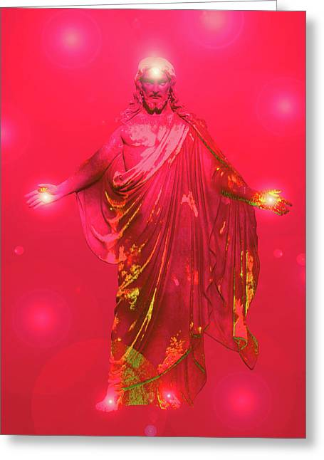Jesus-energy No. 33 Greeting Card