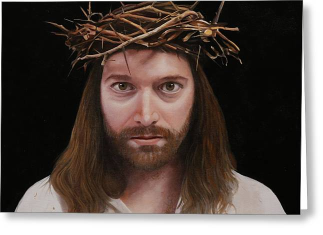 Jesus Greeting Card by Guido Borelli