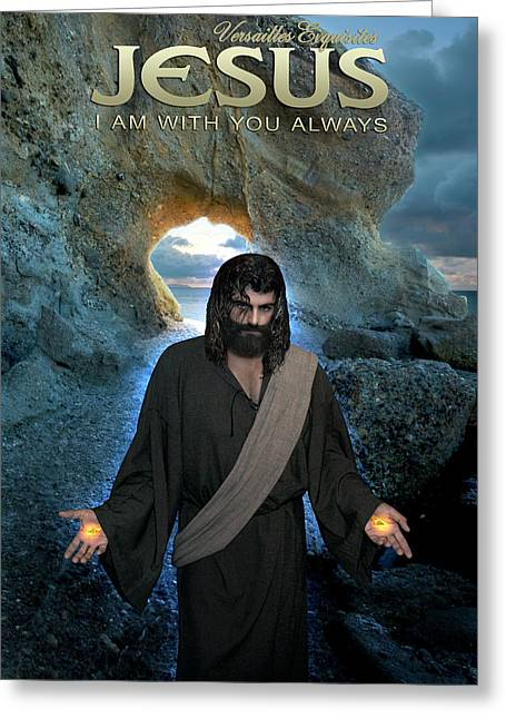 Jesus- I Am With You Always Greeting Card