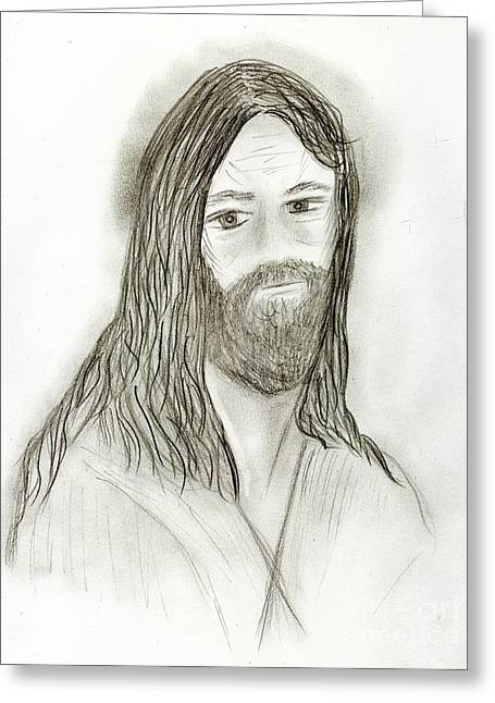 Jesus I Greeting Card by Sonya Chalmers
