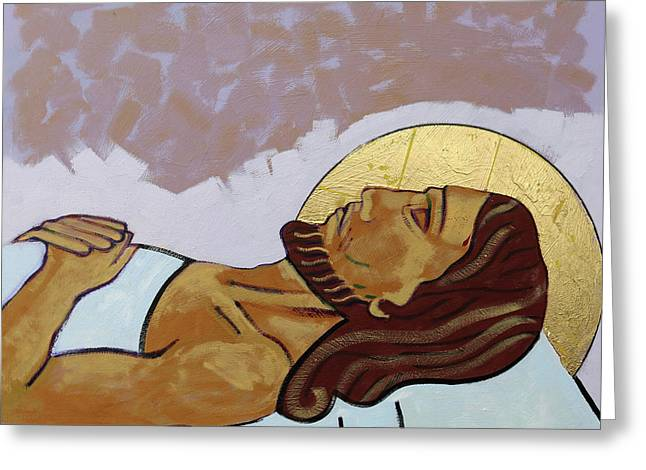 Jesus Is Laid In The Tomb Greeting Card