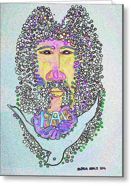Jesus King Of Peace Greeting Card by Gloria Ssali