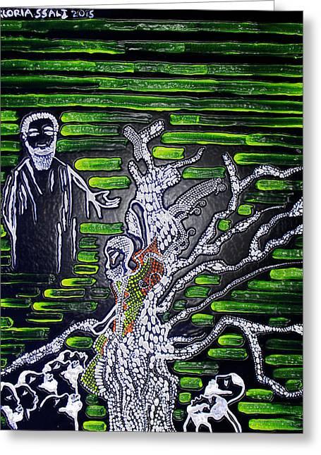 Jesus Meets Zacchaeus Greeting Card by Gloria Ssali