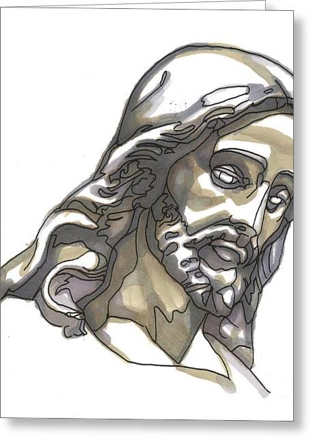 Jesus No 1 Greeting Card by Edward Ruth