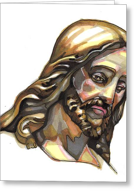 Jesus No 3 Greeting Card by Edward Ruth