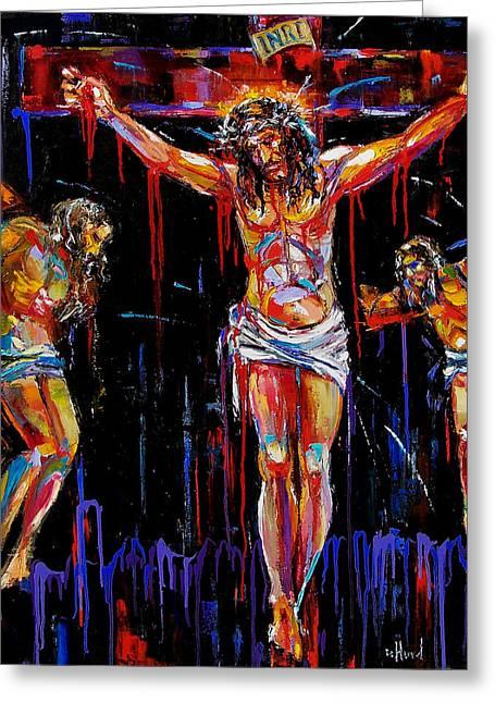 Jesus Of Nazareth Greeting Card by Debra Hurd