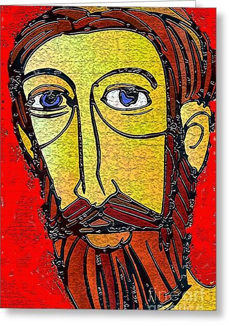 Jesus Of Nazareth Greeting Card by Mimo Krouzian