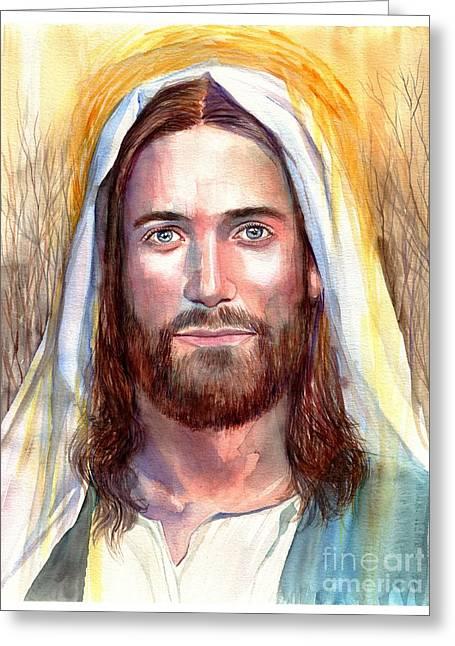 Jesus Of Nazareth Painting Greeting Card