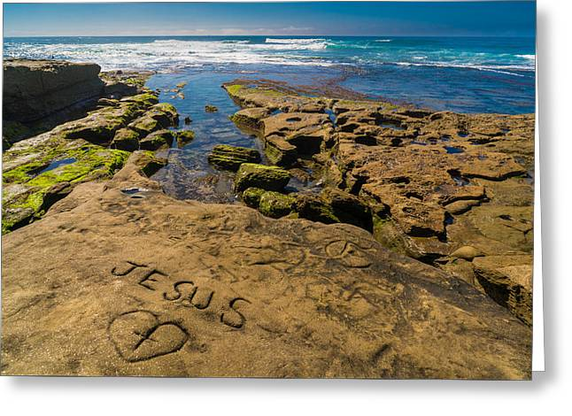 Jesus On The Rock Greeting Card