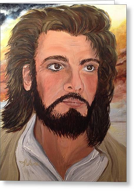 Jesus Peace Be Still Greeting Card by Helene Thomason