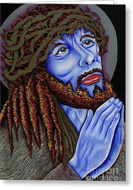 Jesus Peace Greeting Card by Nannette Harris