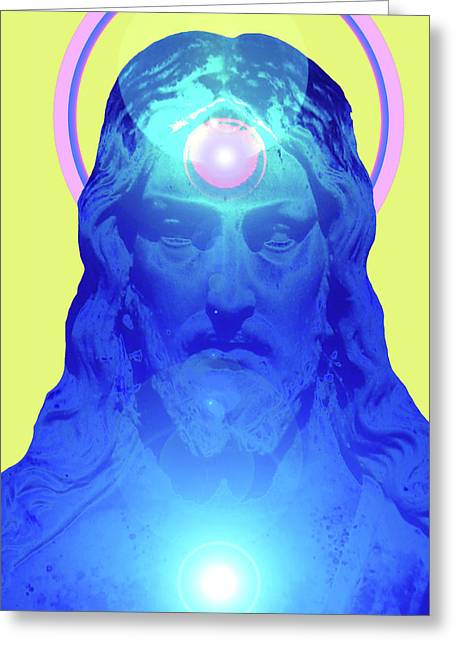 Jesus-portrait No. 04 Greeting Card by Ramon Labusch