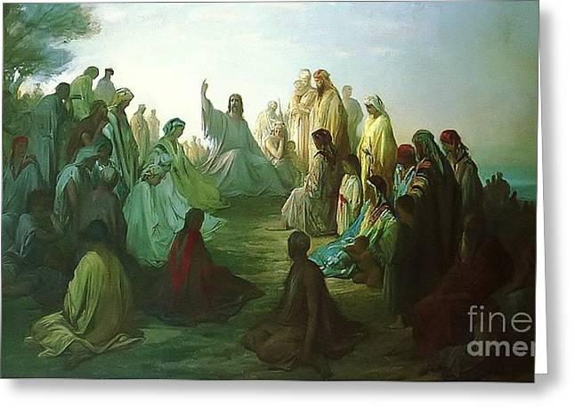 Jesus Preaching The Sermon Greeting Card