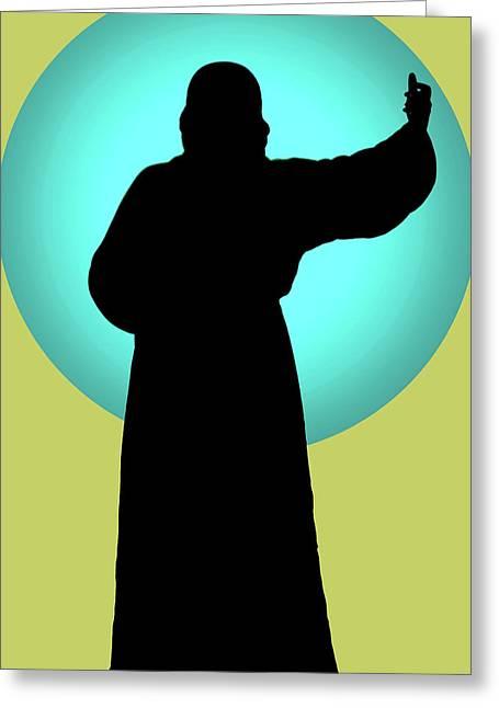 Jesus Shape No. 01 Greeting Card by Ramon Labusch