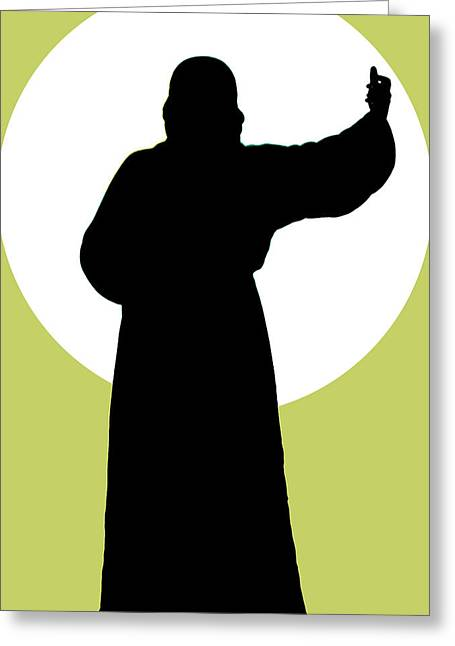 Jesus Shape No. 02 Greeting Card by Ramon Labusch