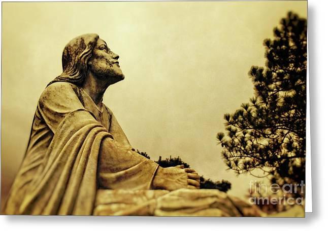 Jesus Teach Us To Pray - Christian Art Prints Greeting Card