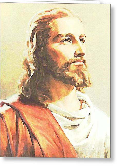 Jesus The Soul Of God Incarnate   Greeting Card by John Malone
