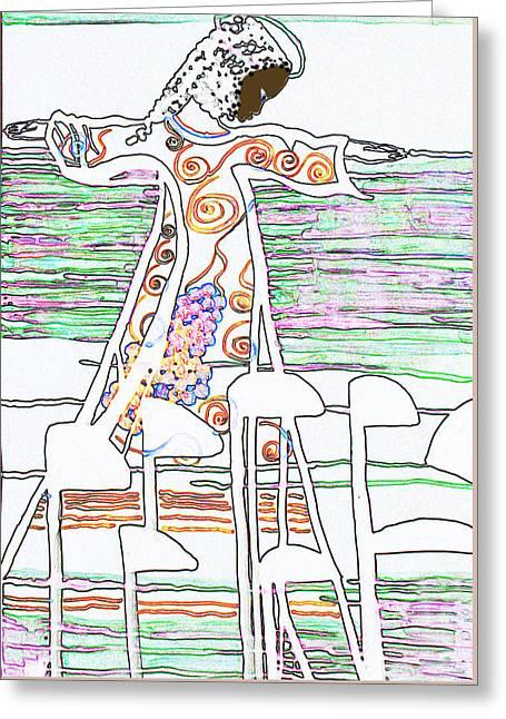 Jesus The Vine Greeting Card by Gloria Ssali