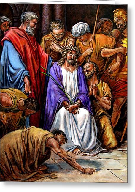 Jesus Tormented Greeting Card