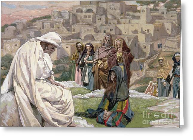 Christian Verses Greeting Cards - Jesus Wept Greeting Card by Tissot