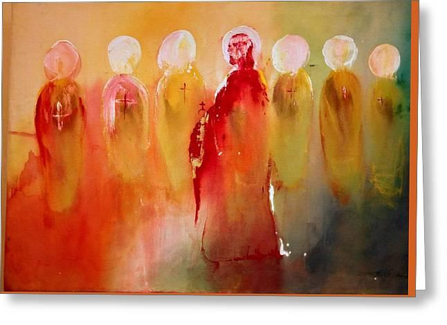 Jesus With His Apostles Greeting Card