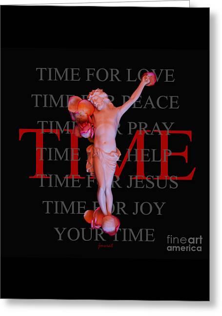 Inri Jesus Time M23 Greeting Card