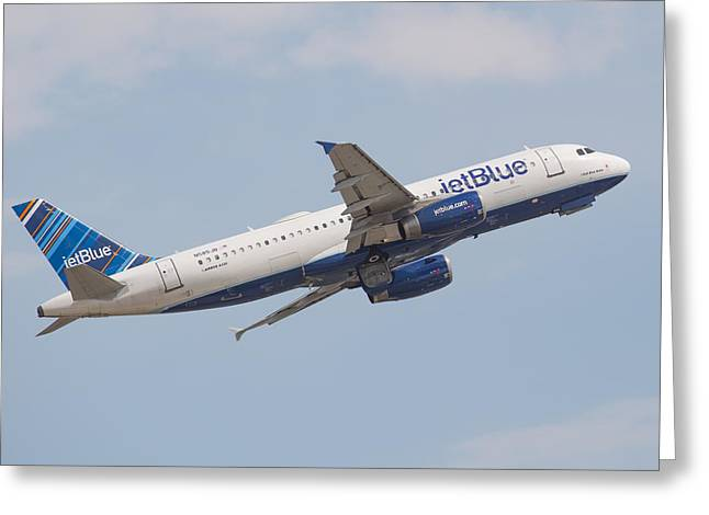Jet Blue Greeting Card