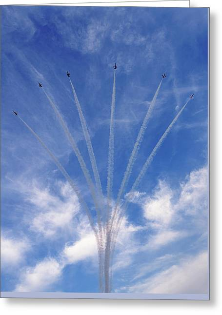 Jet Planes Formation In Sky Greeting Card
