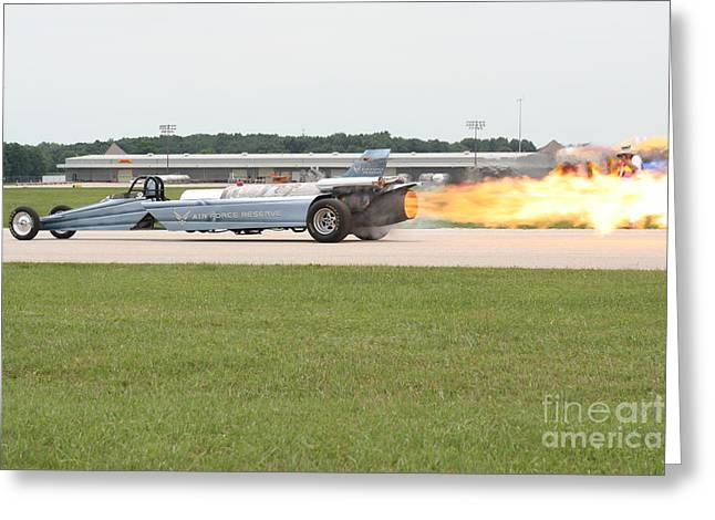 Jet Powered Funny Car Greeting Card by Eric Irion