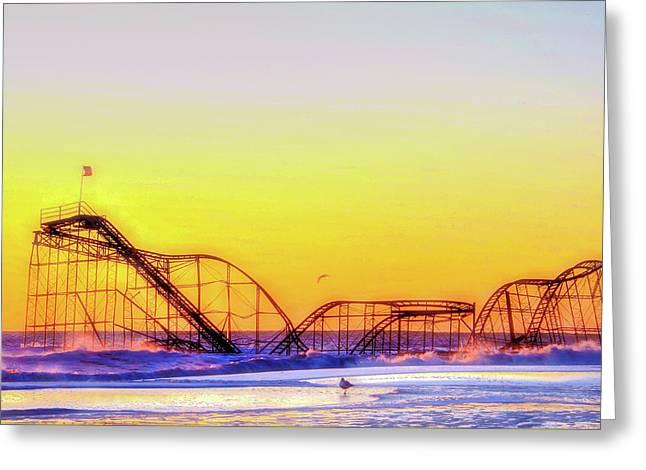 Jet Star Rollercoaster Seaside Heights Greeting Card