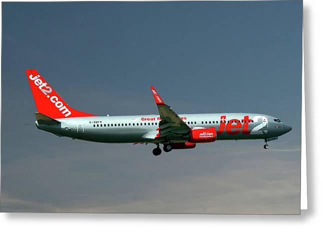 Jet2 Boeing 737-8z9 Greeting Card