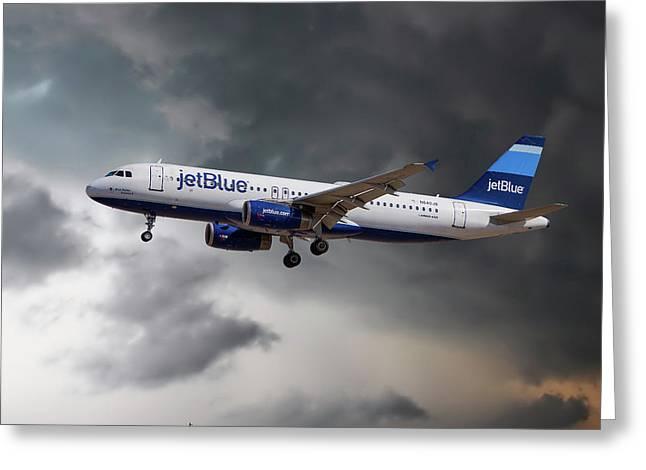 Jetblue Airways Airbus A320-232 Greeting Card