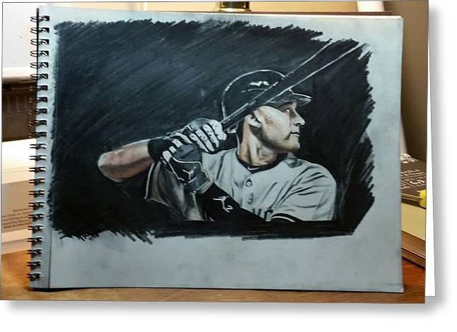 Jeter A Classic Greeting Card by Ryan Maloney