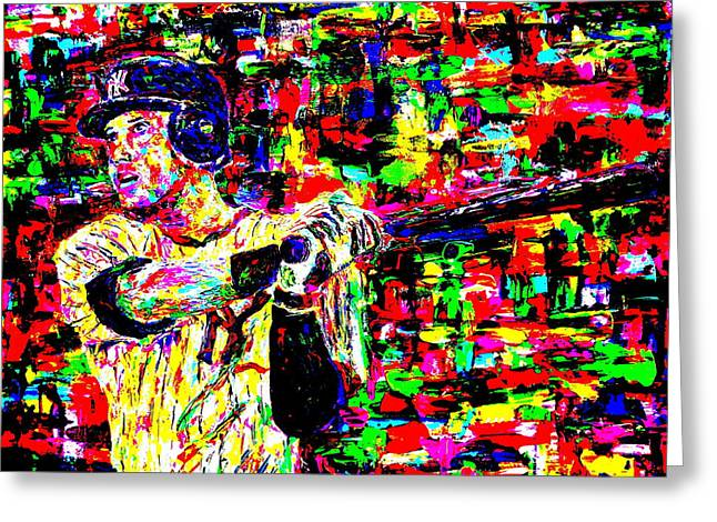 Jeter Greeting Card by Mike OBrien